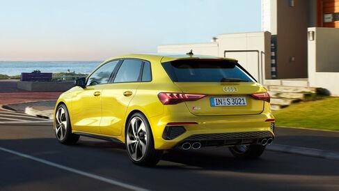Audi S3 Sportback TFSI in der Heckansicht